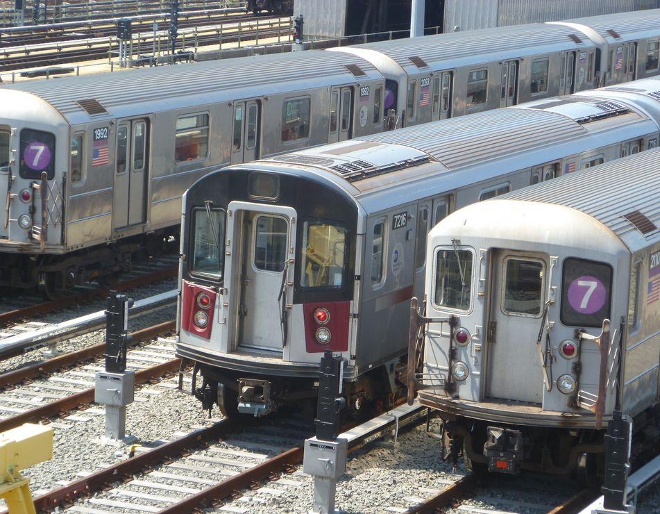 (158k, 951x740)<br><b>Country:</b> United States<br><b>City:</b> New York<br><b>System:</b> New York City Transit<br><b>Location:</b> Corona Yard<br><b>Car:</b> R-188 (R-142A Conversion, Kawasaki, 1999-2002) 7216 <br><b>Photo by:</b> Kevin Wong<br><b>Date:</b> 4/19/2012<br><b>Viewed (this week/total):</b> 1 / 1063