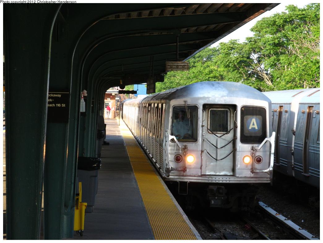 (344k, 1044x788)<br><b>Country:</b> United States<br><b>City:</b> New York<br><b>System:</b> New York City Transit<br><b>Line:</b> IND Rockaway<br><b>Location:</b> Rockaway Park/Beach 116th Street <br><b>Route:</b> A<br><b>Car:</b> R-42 (St. Louis, 1969-1970)   <br><b>Photo by:</b> Christopher Henderson<br><b>Date:</b> 6/13/2012<br><b>Viewed (this week/total):</b> 2 / 1050