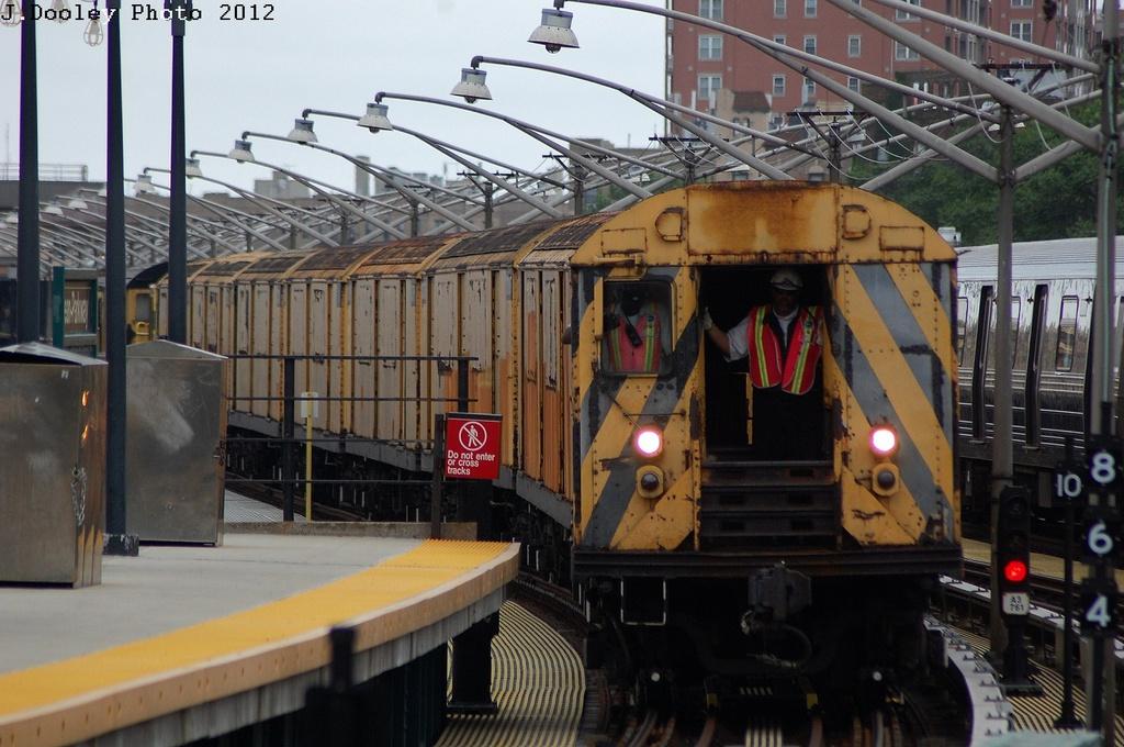 (323k, 1024x680)<br><b>Country:</b> United States<br><b>City:</b> New York<br><b>System:</b> New York City Transit<br><b>Line:</b> BMT Brighton Line<br><b>Location:</b> Ocean Parkway <br><b>Route:</b> Work Service<br><b>Car:</b> R-123 Continuous Welded Rail Handler (R17/R21/R22 Rebuilds) CCR01 <br><b>Photo by:</b> John Dooley<br><b>Date:</b> 6/1/2012<br><b>Viewed (this week/total):</b> 10 / 1938