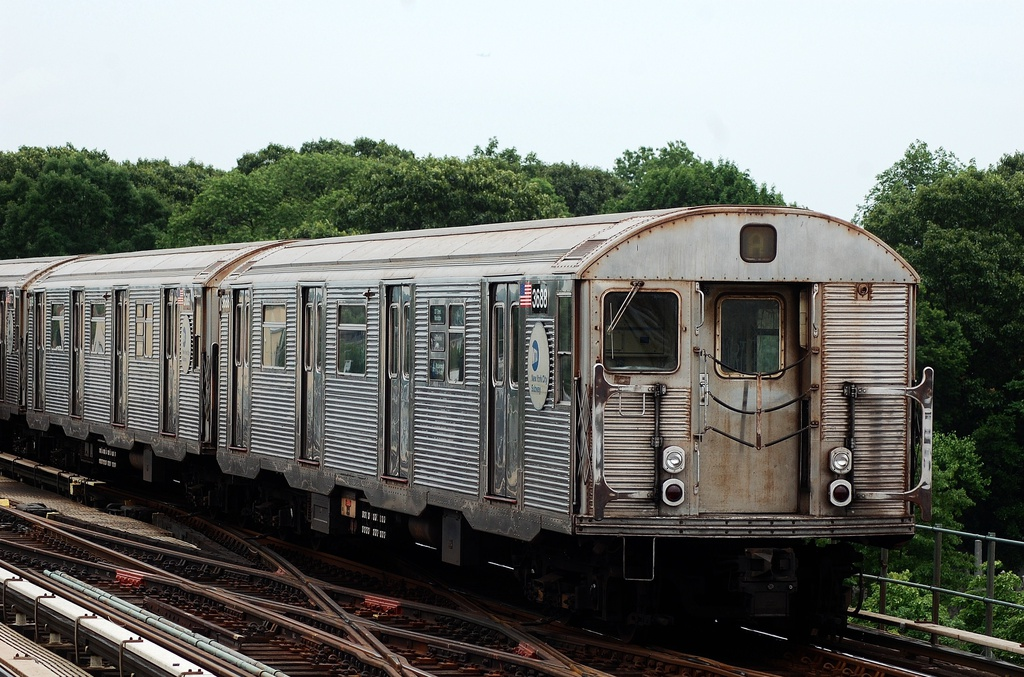 (354k, 1024x677)<br><b>Country:</b> United States<br><b>City:</b> New York<br><b>System:</b> New York City Transit<br><b>Line:</b> IND Fulton Street Line<br><b>Location:</b> 80th Street/Hudson Street <br><b>Route:</b> A<br><b>Car:</b> R-32 (Budd, 1964)  3688 <br><b>Photo by:</b> John Dooley<br><b>Date:</b> 5/30/2012<br><b>Viewed (this week/total):</b> 1 / 616