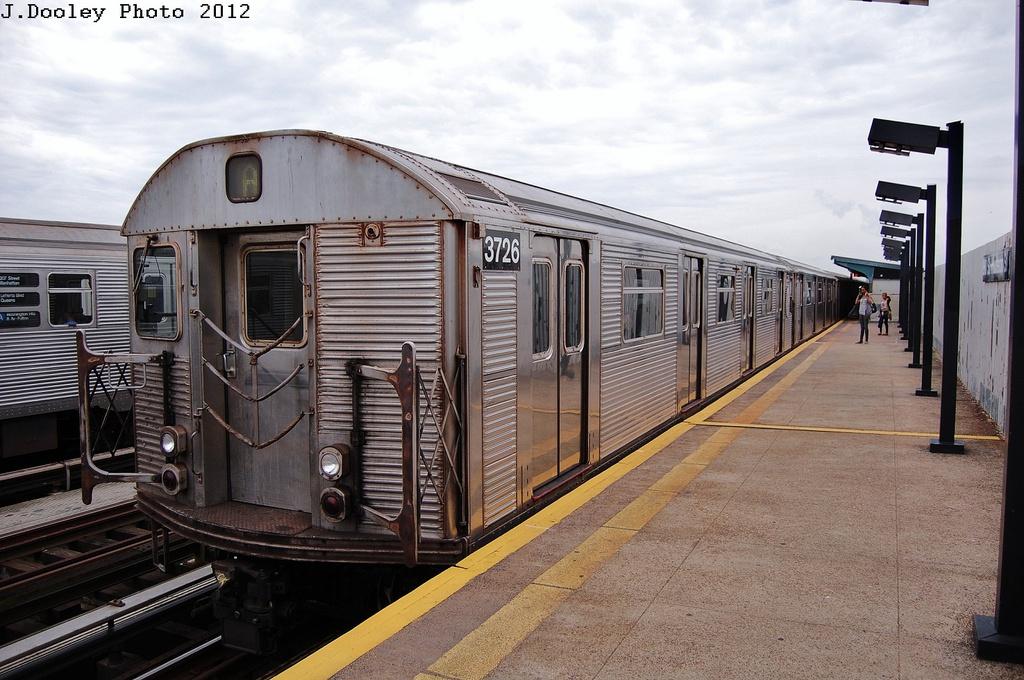 (335k, 1024x680)<br><b>Country:</b> United States<br><b>City:</b> New York<br><b>System:</b> New York City Transit<br><b>Line:</b> IND Fulton Street Line<br><b>Location:</b> 80th Street/Hudson Street <br><b>Route:</b> A<br><b>Car:</b> R-32 (Budd, 1964)  3726 <br><b>Photo by:</b> John Dooley<br><b>Date:</b> 5/30/2012<br><b>Viewed (this week/total):</b> 4 / 751