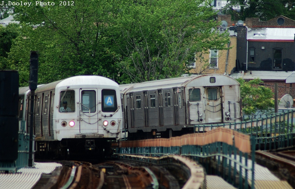 (370k, 1024x657)<br><b>Country:</b> United States<br><b>City:</b> New York<br><b>System:</b> New York City Transit<br><b>Line:</b> IND Fulton Street Line<br><b>Location:</b> 80th Street/Hudson Street <br><b>Route:</b> A<br><b>Car:</b> R-32 (Budd, 1964)   <br><b>Photo by:</b> John Dooley<br><b>Date:</b> 5/30/2012<br><b>Viewed (this week/total):</b> 0 / 1210