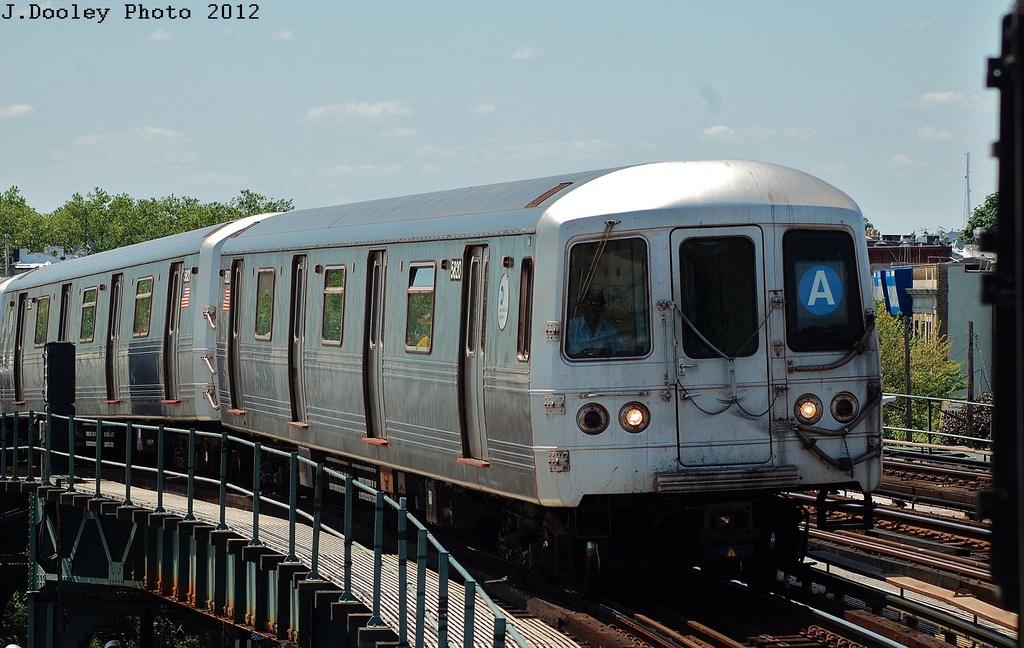 (317k, 1024x648)<br><b>Country:</b> United States<br><b>City:</b> New York<br><b>System:</b> New York City Transit<br><b>Line:</b> IND Fulton Street Line<br><b>Location:</b> 80th Street/Hudson Street <br><b>Route:</b> A<br><b>Car:</b> R-46 (Pullman-Standard, 1974-75) 5820 <br><b>Photo by:</b> John Dooley<br><b>Date:</b> 5/31/2012<br><b>Viewed (this week/total):</b> 0 / 733