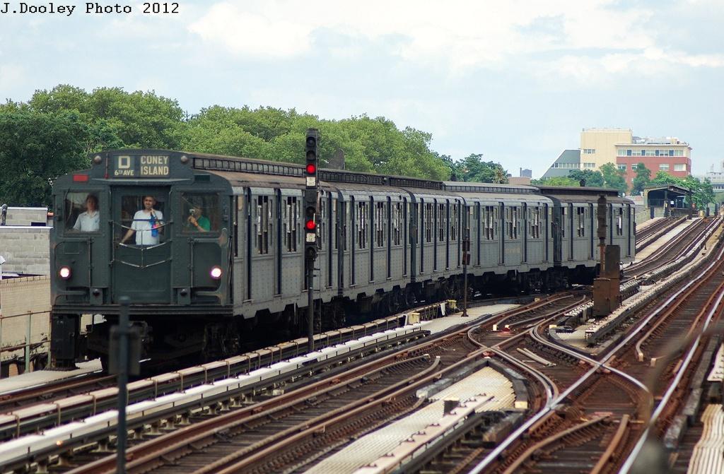 (344k, 1024x671)<br><b>Country:</b> United States<br><b>City:</b> New York<br><b>System:</b> New York City Transit<br><b>Line:</b> BMT Culver Line<br><b>Location:</b> Avenue X <br><b>Route:</b> Transit Museum Nostalgia Train<br><b>Car:</b> R-6-1 (Pressed Steel, 1936)  1300 <br><b>Photo by:</b> John Dooley<br><b>Date:</b> 7/29/2012<br><b>Viewed (this week/total):</b> 1 / 1012
