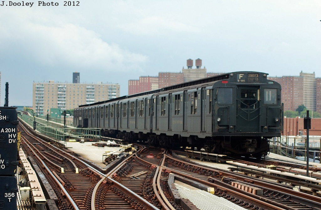 (308k, 1024x671)<br><b>Country:</b> United States<br><b>City:</b> New York<br><b>System:</b> New York City Transit<br><b>Line:</b> BMT Culver Line<br><b>Location:</b> Avenue X <br><b>Route:</b> Transit Museum Nostalgia Train<br><b>Car:</b> R-9 (Pressed Steel, 1940)  1802 <br><b>Photo by:</b> John Dooley<br><b>Date:</b> 7/29/2012<br><b>Viewed (this week/total):</b> 1 / 1053