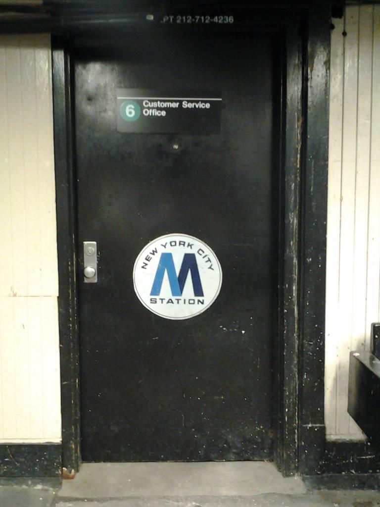 (76k, 768x1024)<br><b>Country:</b> United States<br><b>City:</b> New York<br><b>System:</b> New York City Transit<br><b>Line:</b> IRT Pelham Line<br><b>Location:</b> Buhre Avenue <br><b>Photo by:</b> Robbie Rosenfeld<br><b>Date:</b> 7/15/2012<br><b>Notes:</b> Customer service office.<br><b>Viewed (this week/total):</b> 2 / 955