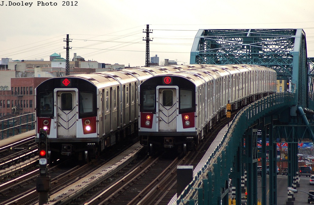 (358k, 1024x669)<br><b>Country:</b> United States<br><b>City:</b> New York<br><b>System:</b> New York City Transit<br><b>Line:</b> IRT Pelham Line<br><b>Location:</b> Elder Avenue <br><b>Route:</b> 6<br><b>Car:</b> R-142 or R-142A (Number Unknown)  <br><b>Photo by:</b> John Dooley<br><b>Date:</b> 2/22/2012<br><b>Viewed (this week/total):</b> 0 / 1054