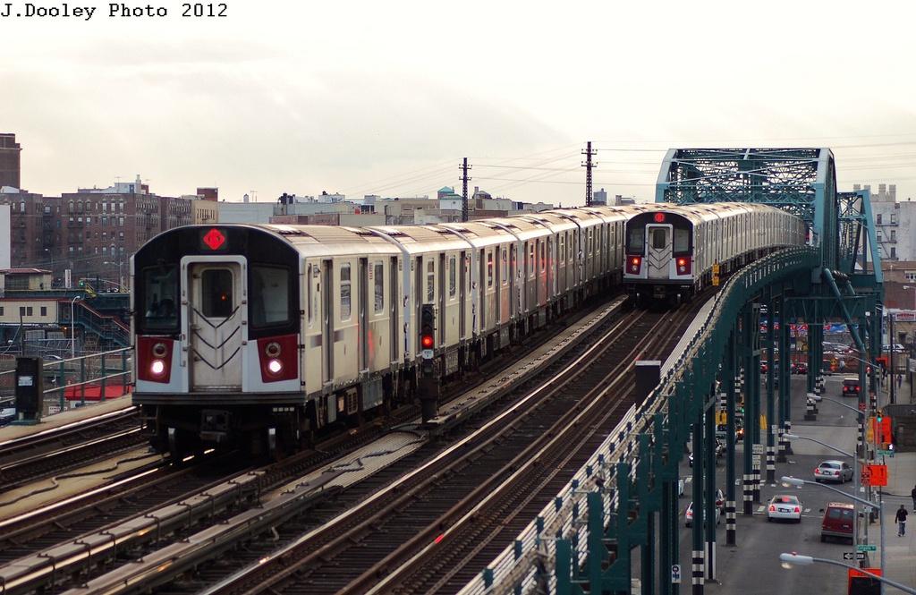 (316k, 1024x665)<br><b>Country:</b> United States<br><b>City:</b> New York<br><b>System:</b> New York City Transit<br><b>Line:</b> IRT Pelham Line<br><b>Location:</b> Elder Avenue <br><b>Route:</b> 6<br><b>Car:</b> R-142 or R-142A (Number Unknown) 75xx <br><b>Photo by:</b> John Dooley<br><b>Date:</b> 2/22/2012<br><b>Viewed (this week/total):</b> 0 / 816