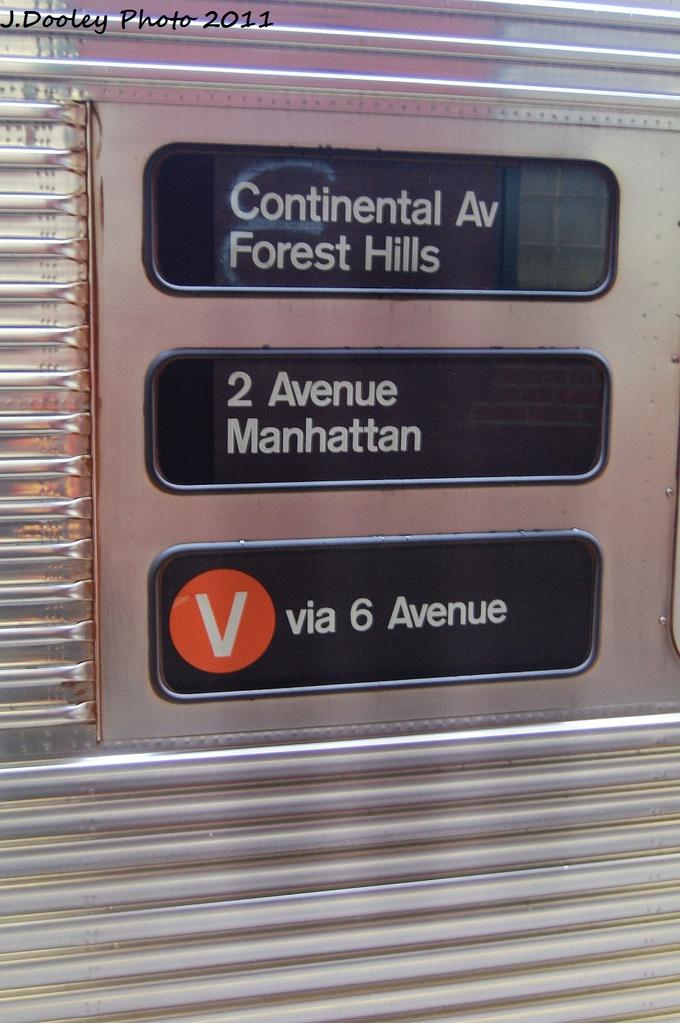 (295k, 680x1023)<br><b>Country:</b> United States<br><b>City:</b> New York<br><b>System:</b> New York City Transit<br><b>Line:</b> IND Fulton Street Line<br><b>Location:</b> Rockaway Boulevard <br><b>Route:</b> A-wrong sign<br><b>Car:</b> R-32 (Budd, 1964)   <br><b>Photo by:</b> John Dooley<br><b>Date:</b> 11/29/2011<br><b>Viewed (this week/total):</b> 1 / 1013