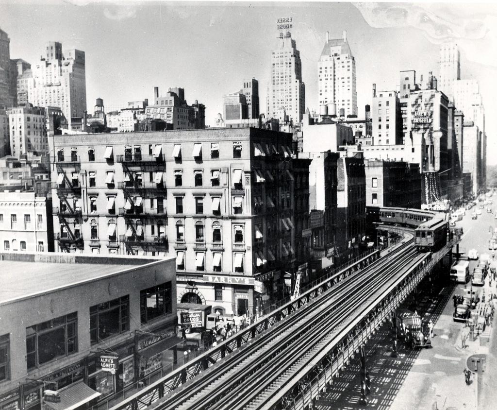 (402k, 1024x844)<br><b>Country:</b> United States<br><b>City:</b> New York<br><b>System:</b> New York City Transit<br><b>Line:</b> 6th Avenue El<br><b>Location:</b> 50th Street <br><b>Photo by:</b> Ed Watson/Arthur Lonto Collection<br><b>Collection of:</b> Frank Pfuhler<br><b>Date:</b> 1938<br><b>Viewed (this week/total):</b> 3 / 1602