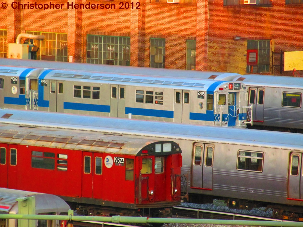 (328k, 1024x768)<br><b>Country:</b> United States<br><b>City:</b> New York<br><b>System:</b> New York City Transit<br><b>Location:</b> 207th Street Yard<br><b>Car:</b> R-33 Main Line (St. Louis, 1962-63) 9206 <br><b>Photo by:</b> Christopher Henderson<br><b>Date:</b> 8/2/2012<br><b>Viewed (this week/total):</b> 0 / 988