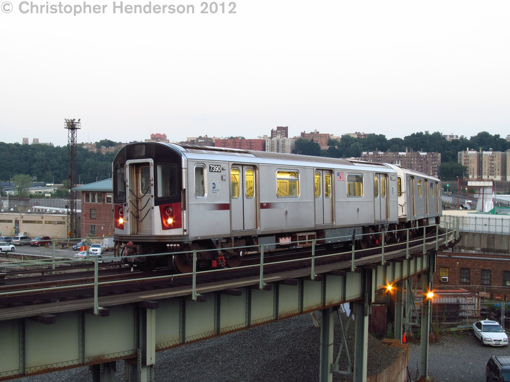 (238k, 1024x768)<br><b>Country:</b> United States<br><b>City:</b> New York<br><b>System:</b> New York City Transit<br><b>Line:</b> IRT West Side Line<br><b>Location:</b> 207th Street <br><b>Car:</b> R-142A (Primary Order, Kawasaki, 1999-2002)  7390 <br><b>Photo by:</b> Christopher Henderson<br><b>Date:</b> 8/2/2012<br><b>Viewed (this week/total):</b> 0 / 1326