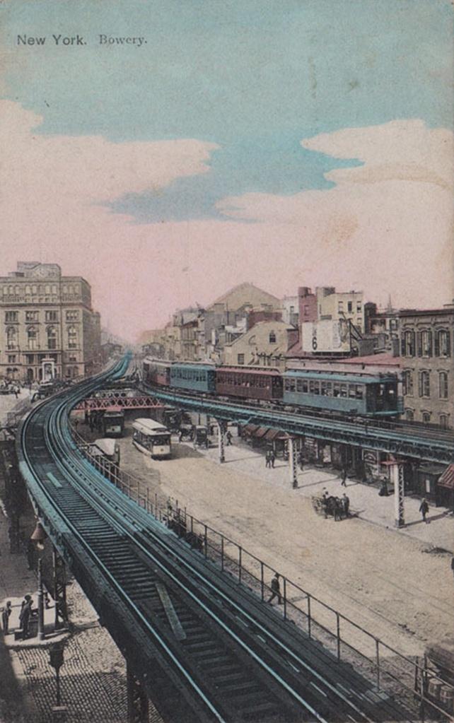 (229k, 642x1023)<br><b>Country:</b> United States<br><b>City:</b> New York<br><b>System:</b> New York City Transit<br><b>Line:</b> 3rd Avenue El<br><b>Location:</b> Cooper Square <br><b>Collection of:</b> Frank Pfuhler<br><b>Notes:</b> Postcard<br><b>Viewed (this week/total):</b> 2 / 949