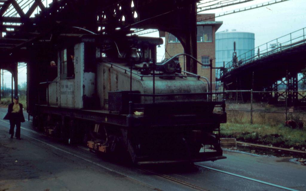 (200k, 1024x641)<br><b>Country:</b> United States<br><b>City:</b> New York<br><b>System:</b> New York City Transit<br><b>Line:</b> South Brooklyn Railway<br><b>Location:</b> McDonald Avenue (SBK)<br><b>Car:</b> SBK Steeplecab 6 <br><b>Photo by:</b> Frank Pfuhler<br><b>Date:</b> 10/24/1956<br><b>Viewed (this week/total):</b> 0 / 1026