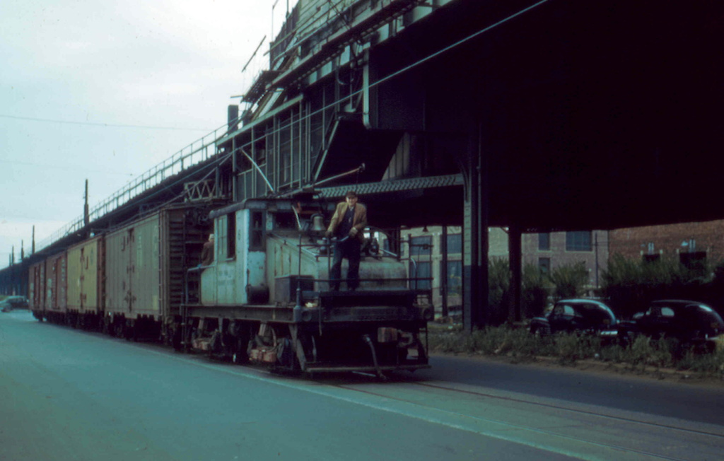 (166k, 1024x652)<br><b>Country:</b> United States<br><b>City:</b> New York<br><b>System:</b> New York City Transit<br><b>Line:</b> South Brooklyn Railway<br><b>Location:</b> McDonald Avenue (SBK)<br><b>Car:</b> SBK Steeplecab 6 <br><b>Photo by:</b> Frank Pfuhler<br><b>Date:</b> 10/24/1956<br><b>Viewed (this week/total):</b> 2 / 1091