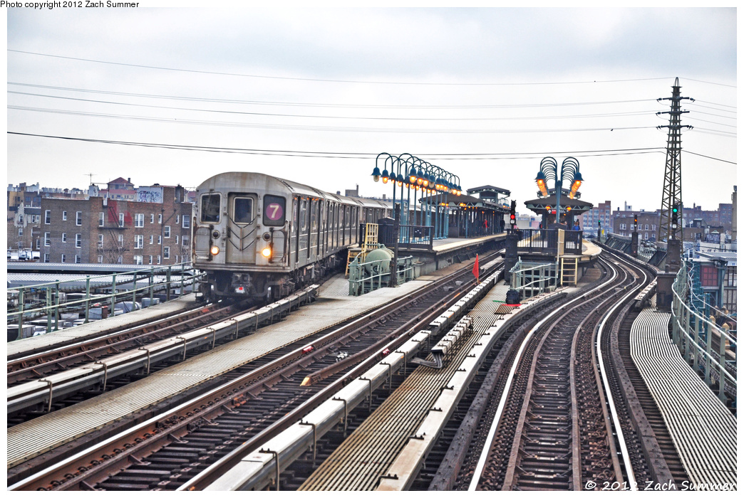 (426k, 1044x700)<br><b>Country:</b> United States<br><b>City:</b> New York<br><b>System:</b> New York City Transit<br><b>Line:</b> IRT Flushing Line<br><b>Location:</b> 61st Street/Woodside <br><b>Route:</b> 7<br><b>Car:</b> R-62A (Bombardier, 1984-1987)  1776 <br><b>Photo by:</b> Zach Summer<br><b>Date:</b> 3/13/2012<br><b>Viewed (this week/total):</b> 0 / 1264
