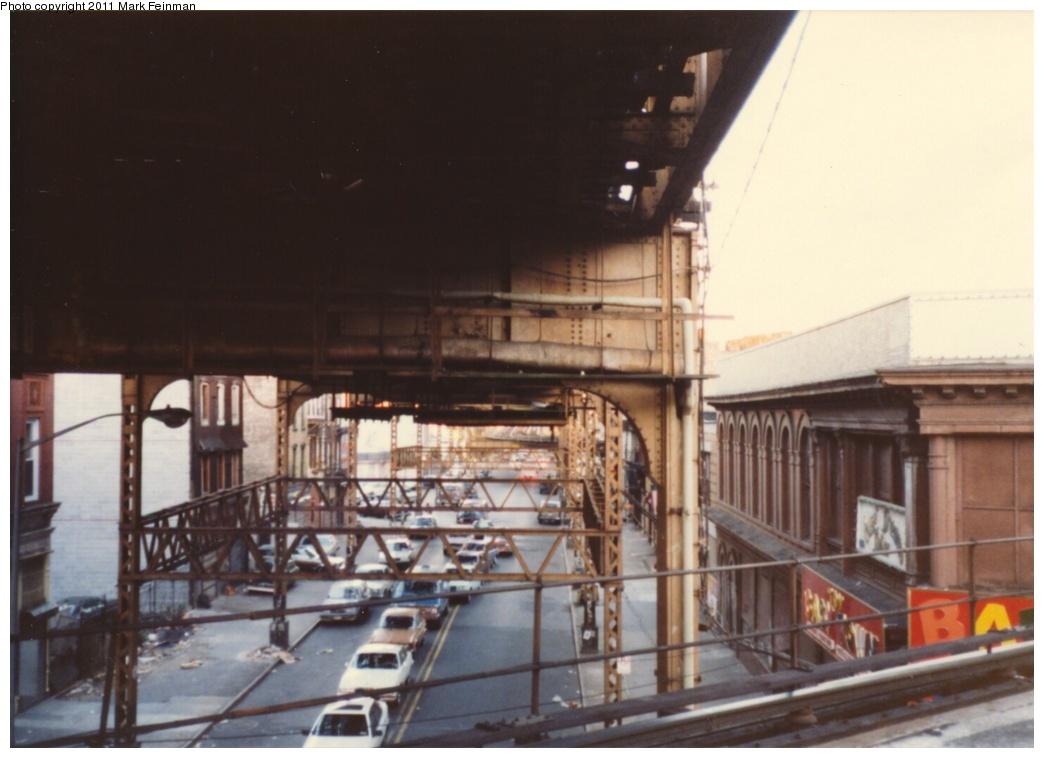 (200k, 1044x758)<br><b>Country:</b> United States<br><b>City:</b> New York<br><b>System:</b> New York City Transit<br><b>Line:</b> BMT Nassau Street/Jamaica Line<br><b>Location:</b> Myrtle Avenue <br><b>Photo by:</b> Mark S. Feinman<br><b>Date:</b> 1989<br><b>Viewed (this week/total):</b> 1 / 1148