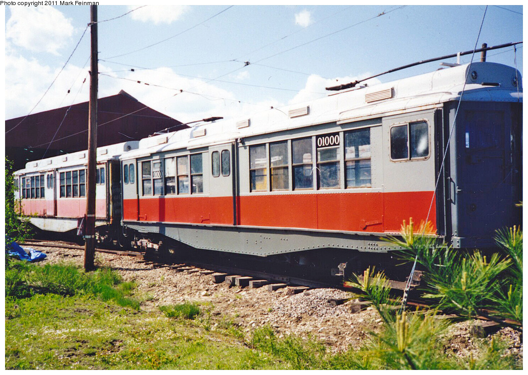 (476k, 1044x743)<br><b>Country:</b> United States<br><b>City:</b> Kennebunk, ME<br><b>System:</b> Seashore Trolley Museum <br><b>Car:</b> MBTA 01000 Series (Wason, 1928) 01000 <br><b>Photo by:</b> Mark S. Feinman<br><b>Date:</b> 1994<br><b>Viewed (this week/total):</b> 2 / 446