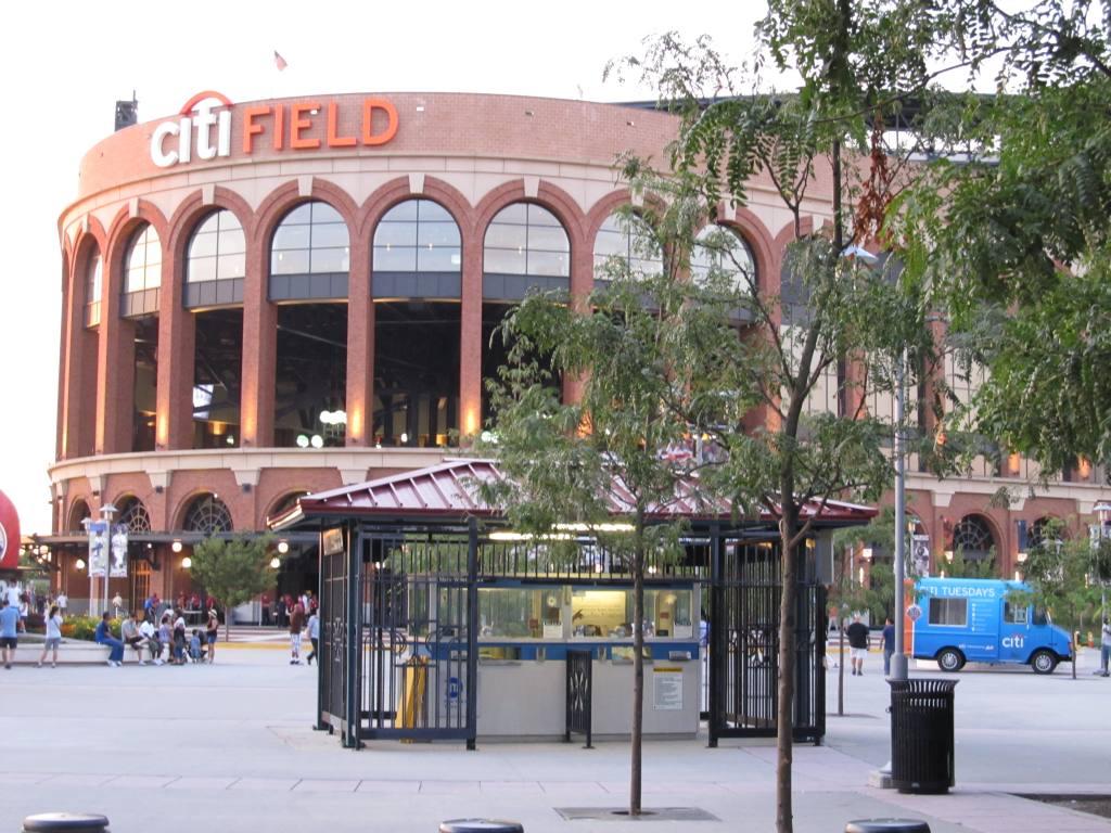 (149k, 1024x768)<br><b>Country:</b> United States<br><b>City:</b> New York<br><b>System:</b> New York City Transit<br><b>Line:</b> IRT Flushing Line<br><b>Location:</b> Willets Point/Mets (fmr. Shea Stadium) <br><b>Photo by:</b> Robbie Rosenfeld<br><b>Date:</b> 8/7/2012<br><b>Notes:</b> Only standalone outdoor token booth?<br><b>Viewed (this week/total):</b> 5 / 1133