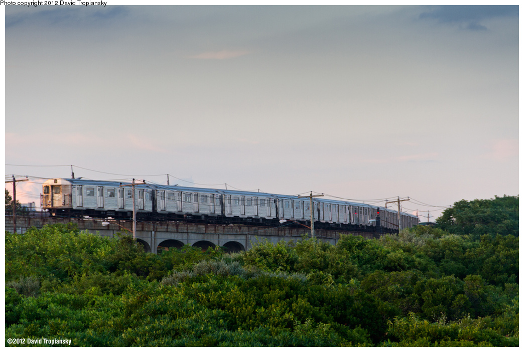 (328k, 1044x702)<br><b>Country:</b> United States<br><b>City:</b> New York<br><b>System:</b> New York City Transit<br><b>Line:</b> IND Rockaway<br><b>Location:</b> Beach 36th Street/Edgemere <br><b>Route:</b> A<br><b>Car:</b> R-32 (Budd, 1964)   <br><b>Photo by:</b> David Tropiansky<br><b>Date:</b> 7/27/2012<br><b>Viewed (this week/total):</b> 8 / 1315