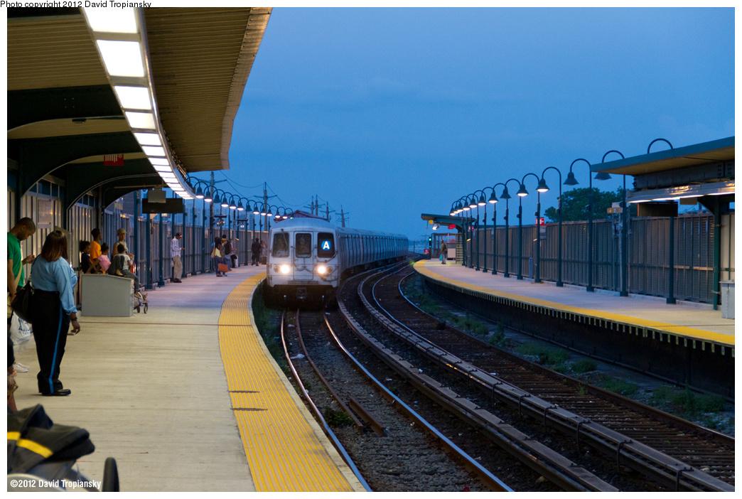 (359k, 1044x702)<br><b>Country:</b> United States<br><b>City:</b> New York<br><b>System:</b> New York City Transit<br><b>Line:</b> IND Rockaway<br><b>Location:</b> Beach 60th Street/Straiton <br><b>Route:</b> A<br><b>Car:</b> R-46 (Pullman-Standard, 1974-75) 6000 <br><b>Photo by:</b> David Tropiansky<br><b>Date:</b> 7/27/2012<br><b>Viewed (this week/total):</b> 3 / 1252