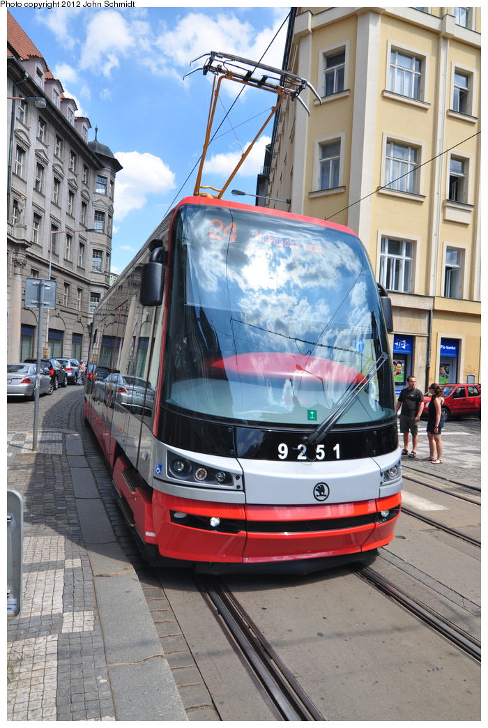 (387k, 700x1044)<br><b>Country:</b> Czech Republic<br><b>City:</b> Prague<br><b>System:</b> DPP (Dopravni podnik Prahy)<br><b>Location:</b> Jindrisska<br><b>Route:</b> 24<br><b>Car:</b> Åkoda 15T  9251 <br><b>Photo by:</b> John Schmidt<br><b>Date:</b> 8/1/2012<br><b>Viewed (this week/total):</b> 0 / 356