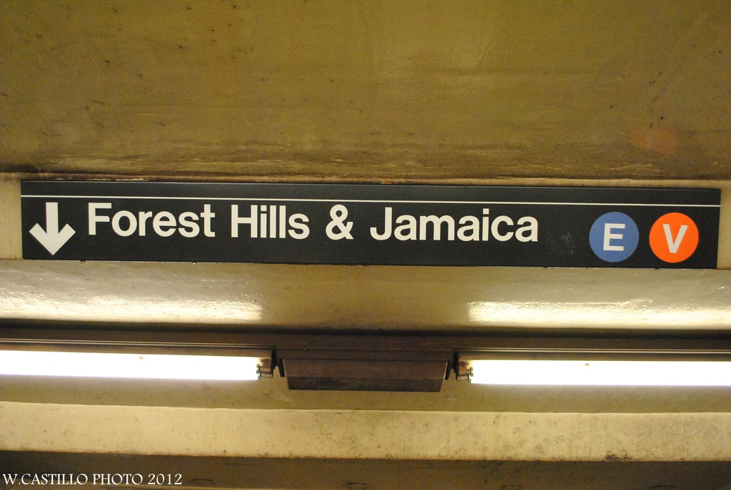 (250k, 1024x687)<br><b>Country:</b> United States<br><b>City:</b> New York<br><b>System:</b> New York City Transit<br><b>Line:</b> IND Queens Boulevard Line<br><b>Location:</b> Court Square/23rd St (Ely Avenue) <br><b>Photo by:</b> Wilfredo Castillo<br><b>Date:</b> 7/28/2012<br><b>Notes:</b> Signage error- should be M not V<br><b>Viewed (this week/total):</b> 0 / 882