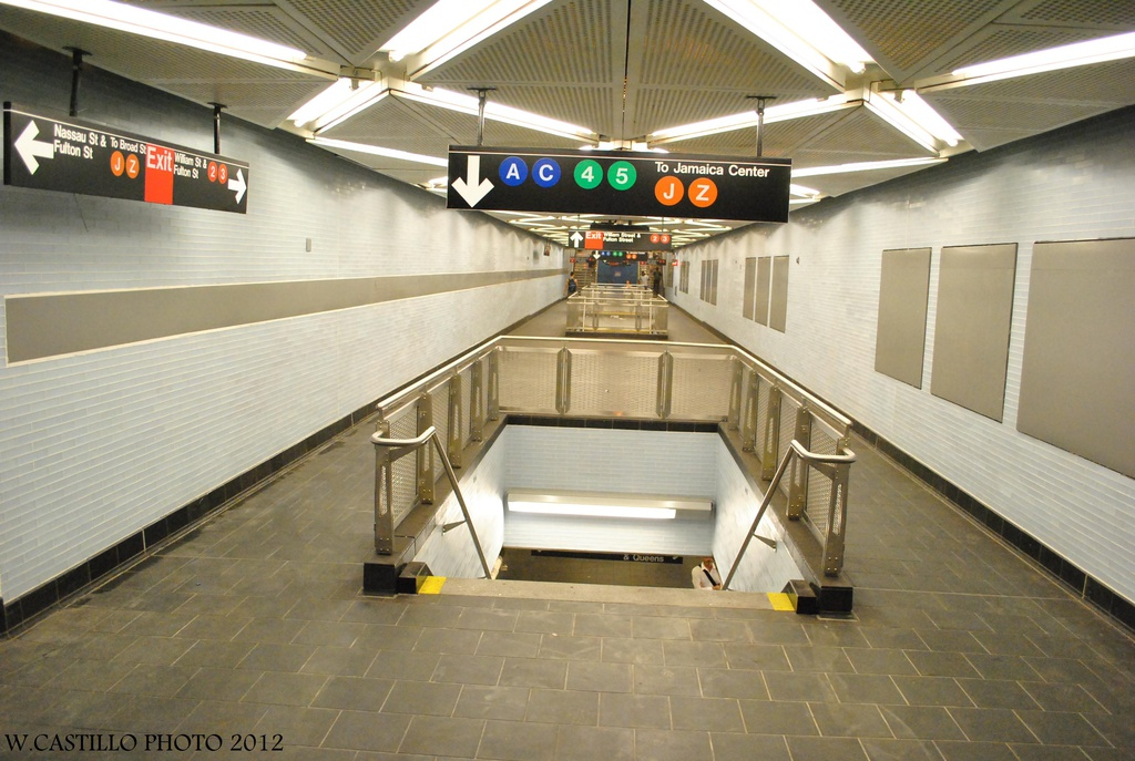 (294k, 1024x687)<br><b>Country:</b> United States<br><b>City:</b> New York<br><b>System:</b> New York City Transit<br><b>Line:</b> IND 8th Avenue Line<br><b>Location:</b> Fulton Street (Broadway/Nassau) <br><b>Photo by:</b> Wilfredo Castillo<br><b>Date:</b> 8/8/2012<br><b>Notes:</b> New mezzanine.<br><b>Viewed (this week/total):</b> 3 / 1947
