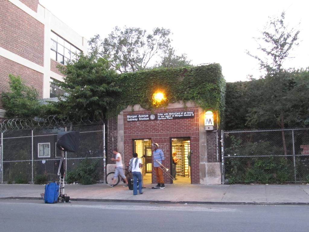 (145k, 1024x768)<br><b>Country:</b> United States<br><b>City:</b> New York<br><b>System:</b> New York City Transit<br><b>Line:</b> BMT Canarsie Line<br><b>Location:</b> Morgan Avenue <br><b>Photo by:</b> Robbie Rosenfeld<br><b>Date:</b> 8/29/2012<br><b>Notes:</b> Station entrance.<br><b>Viewed (this week/total):</b> 1 / 2162
