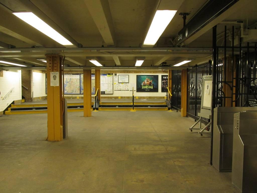 (109k, 1024x768)<br><b>Country:</b> United States<br><b>City:</b> New York<br><b>System:</b> New York City Transit<br><b>Line:</b> BMT Canarsie Line<br><b>Location:</b> Morgan Avenue <br><b>Photo by:</b> Robbie Rosenfeld<br><b>Date:</b> 8/29/2012<br><b>Notes:</b> Station mezzanine.<br><b>Viewed (this week/total):</b> 1 / 1218
