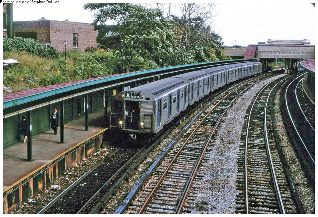(580k, 1044x712)<br><b>Country:</b> United States<br><b>City:</b> New York<br><b>System:</b> New York City Transit<br><b>Line:</b> BMT Sea Beach Line<br><b>Location:</b> 8th Avenue <br><b>Route:</b> N<br><b>Car:</b> R-32 (Budd, 1964)   <br><b>Collection of:</b> Stephen DeLuca<br><b>Viewed (this week/total):</b> 0 / 1918