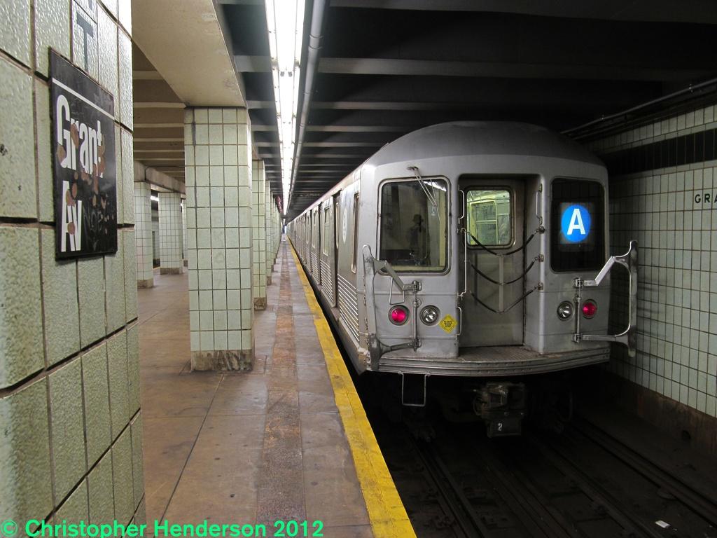(268k, 1024x768)<br><b>Country:</b> United States<br><b>City:</b> New York<br><b>System:</b> New York City Transit<br><b>Line:</b> IND Fulton Street Line<br><b>Location:</b> Grant Avenue <br><b>Route:</b> A<br><b>Car:</b> R-42 (St. Louis, 1969-1970)  4839 <br><b>Photo by:</b> Christopher Henderson<br><b>Date:</b> 9/28/2012<br><b>Viewed (this week/total):</b> 0 / 1493