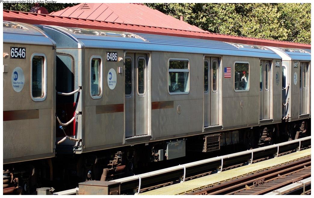 (344k, 1044x661)<br><b>Country:</b> United States<br><b>City:</b> New York<br><b>System:</b> New York City Transit<br><b>Line:</b> IRT White Plains Road Line<br><b>Location:</b> Jackson Avenue <br><b>Route:</b> 2<br><b>Car:</b> R-142 (Primary Order, Bombardier, 1999-2002)  6486 <br><b>Photo by:</b> John Dooley<br><b>Date:</b> 10/11/2012<br><b>Viewed (this week/total):</b> 5 / 876