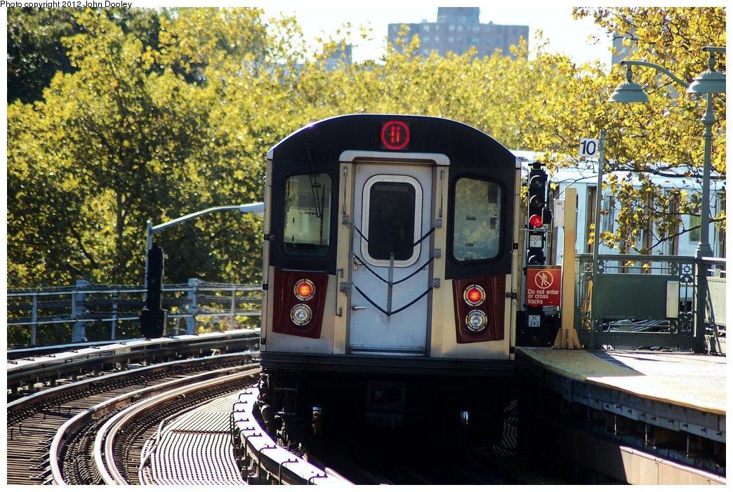 (452k, 1044x701)<br><b>Country:</b> United States<br><b>City:</b> New York<br><b>System:</b> New York City Transit<br><b>Line:</b> IRT White Plains Road Line<br><b>Location:</b> Jackson Avenue <br><b>Route:</b> 5<br><b>Car:</b> R-142 (Primary Order, Bombardier, 1999-2002)   <br><b>Photo by:</b> John Dooley<br><b>Date:</b> 10/11/2012<br><b>Viewed (this week/total):</b> 5 / 1031