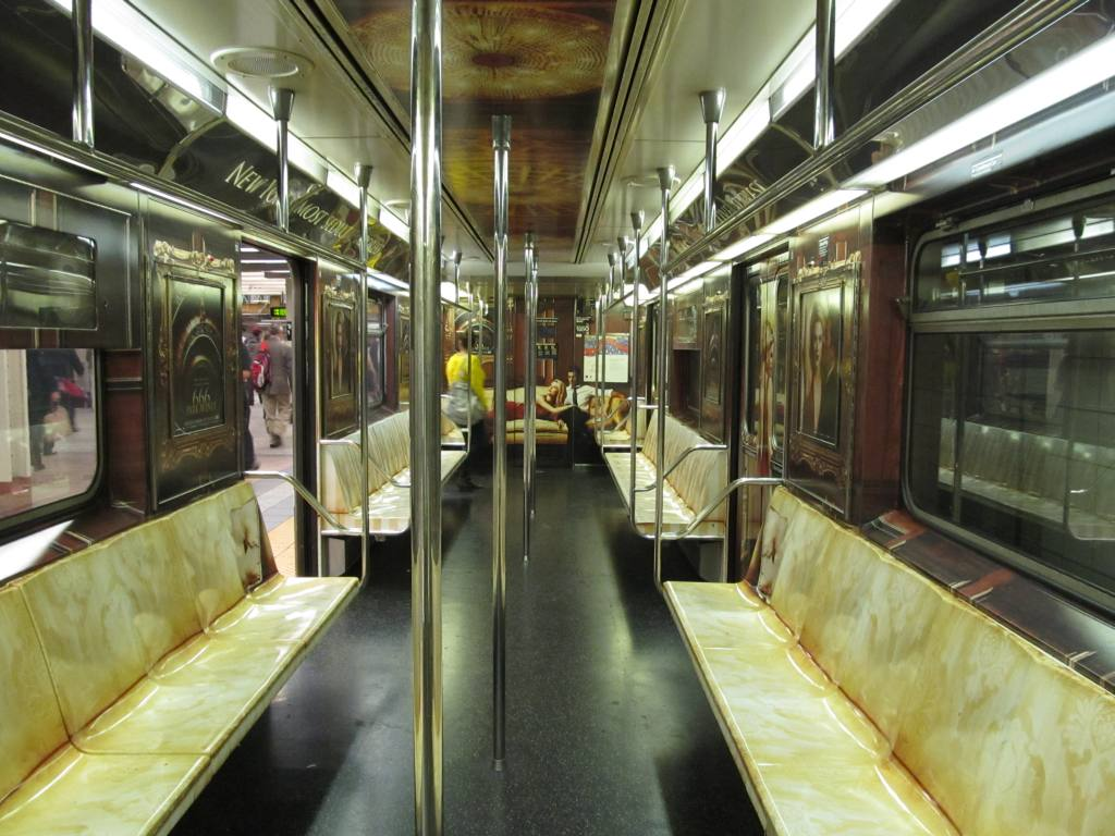 (129k, 1024x768)<br><b>Country:</b> United States<br><b>City:</b> New York<br><b>System:</b> New York City Transit<br><b>Line:</b> IRT Times Square-Grand Central Shuttle<br><b>Location:</b> Grand Central <br><b>Route:</b> S<br><b>Car:</b> R-62A (Bombardier, 1984-1987)  1929 <br><b>Photo by:</b> Robbie Rosenfeld<br><b>Date:</b> 9/27/2012<br><b>Notes:</b> 666 Park Ave tv show wrap.<br><b>Viewed (this week/total):</b> 1 / 739