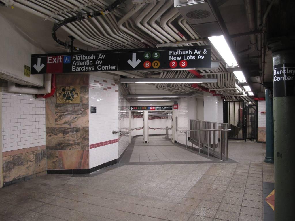 (115k, 1024x768)<br><b>Country:</b> United States<br><b>City:</b> New York<br><b>System:</b> New York City Transit<br><b>Line:</b> IRT Brooklyn Line<br><b>Location:</b> Atlantic Avenue <br><b>Photo by:</b> Robbie Rosenfeld<br><b>Date:</b> 9/19/2012<br><b>Notes:</b> New entrance.<br><b>Viewed (this week/total):</b> 0 / 1143