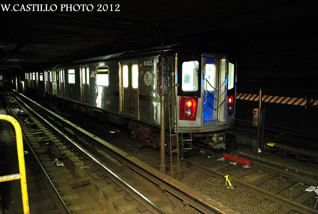 (292k, 1024x687)<br><b>Country:</b> United States<br><b>City:</b> New York<br><b>System:</b> New York City Transit<br><b>Line:</b> IRT Brooklyn Line<br><b>Location:</b> Nevins Street <br><b>Car:</b> R-142 (Primary Order, Bombardier, 1999-2002)  6485 <br><b>Photo by:</b> Wilfredo Castillo<br><b>Date:</b> 10/22/2012<br><b>Viewed (this week/total):</b> 7 / 3650