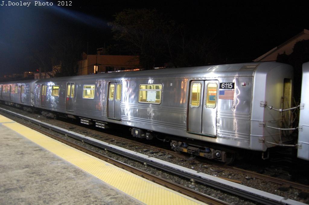 (262k, 1024x680)<br><b>Country:</b> United States<br><b>City:</b> New York<br><b>System:</b> New York City Transit<br><b>Location:</b> Rockaway Park Yard<br><b>Car:</b> R-46 (Pullman-Standard, 1974-75) 6115 <br><b>Photo by:</b> John Dooley<br><b>Date:</b> 10/22/2012<br><b>Viewed (this week/total):</b> 0 / 743