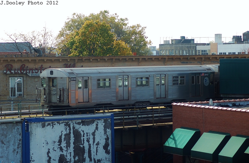 (331k, 1024x673)<br><b>Country:</b> United States<br><b>City:</b> New York<br><b>System:</b> New York City Transit<br><b>Line:</b> BMT West End Line<br><b>Location:</b> 62nd Street <br><b>Route:</b> Work Service<br><b>Car:</b> R-32 (Budd, 1964)  3511 <br><b>Photo by:</b> John Dooley<br><b>Date:</b> 10/26/2012<br><b>Viewed (this week/total):</b> 2 / 932