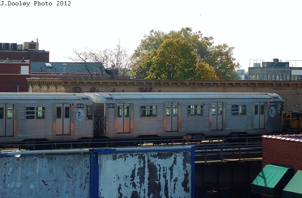 (316k, 1024x672)<br><b>Country:</b> United States<br><b>City:</b> New York<br><b>System:</b> New York City Transit<br><b>Line:</b> BMT West End Line<br><b>Location:</b> 62nd Street <br><b>Route:</b> Work Service<br><b>Car:</b> R-32 (Budd, 1964)  3511 <br><b>Photo by:</b> John Dooley<br><b>Date:</b> 10/26/2012<br><b>Viewed (this week/total):</b> 1 / 880