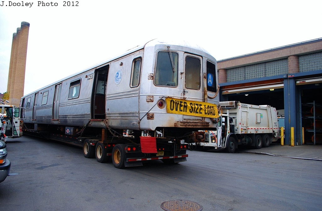 (288k, 1024x673)<br><b>Country:</b> United States<br><b>City:</b> New York<br><b>System:</b> New York City Transit<br><b>Location:</b> 207th Street Yard<br><b>Car:</b> R-44 (St. Louis, 1971-73) 5420 <br><b>Photo by:</b> John Dooley<br><b>Date:</b> 10/26/2012<br><b>Notes:</b> Scrapping<br><b>Viewed (this week/total):</b> 2 / 1255
