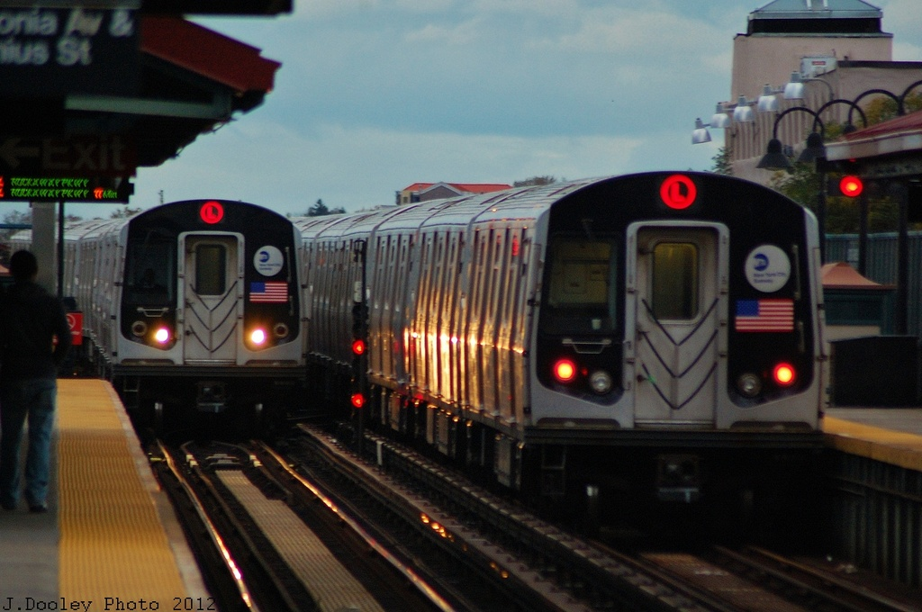 (287k, 1024x680)<br><b>Country:</b> United States<br><b>City:</b> New York<br><b>System:</b> New York City Transit<br><b>Line:</b> BMT Canarsie Line<br><b>Location:</b> Livonia Avenue <br><b>Route:</b> L<br><b>Car:</b> R-143 (Kawasaki, 2001-2002)  <br><b>Photo by:</b> John Dooley<br><b>Date:</b> 11/2/2012<br><b>Viewed (this week/total):</b> 2 / 895