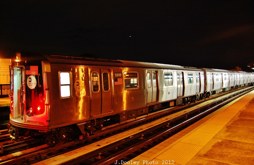 (333k, 1024x668)<br><b>Country:</b> United States<br><b>City:</b> New York<br><b>System:</b> New York City Transit<br><b>Line:</b> BMT West End Line<br><b>Location:</b> 55th Street <br><b>Route:</b> Layup<br><b>Car:</b> R-160B (Kawasaki, 2005-2008)  8898 <br><b>Photo by:</b> John Dooley<br><b>Date:</b> 11/2/2012<br><b>Notes:</b> Post-Sandy layup<br><b>Viewed (this week/total):</b> 0 / 835