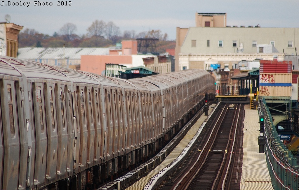 (318k, 1024x652)<br><b>Country:</b> United States<br><b>City:</b> New York<br><b>System:</b> New York City Transit<br><b>Line:</b> BMT West End Line<br><b>Location:</b> 62nd Street <br><b>Route:</b> Layup<br><b>Car:</b> R-160A/R-160B Series (Number Unknown)  <br><b>Photo by:</b> John Dooley<br><b>Date:</b> 11/1/2012<br><b>Notes:</b> Post-Sandy layup<br><b>Viewed (this week/total):</b> 2 / 1002