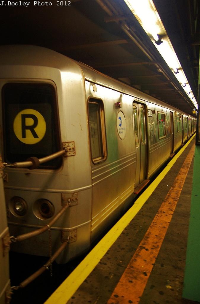(272k, 675x1024)<br><b>Country:</b> United States<br><b>City:</b> New York<br><b>System:</b> New York City Transit<br><b>Line:</b> IND Queens Boulevard Line<br><b>Location:</b> 71st/Continental Aves./Forest Hills <br><b>Route:</b> Layup<br><b>Car:</b> R-46 (Pullman-Standard, 1974-75) 5778 <br><b>Photo by:</b> John Dooley<br><b>Date:</b> 11/4/2012<br><b>Notes:</b> Post-Sandy layup<br><b>Viewed (this week/total):</b> 0 / 660
