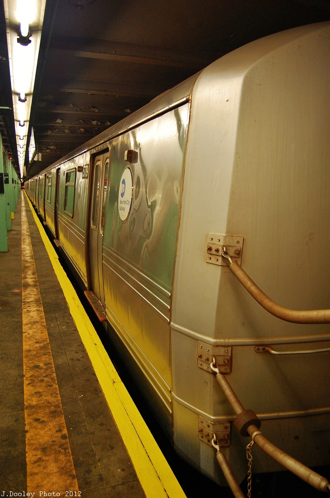 (312k, 680x1025)<br><b>Country:</b> United States<br><b>City:</b> New York<br><b>System:</b> New York City Transit<br><b>Line:</b> IND Queens Boulevard Line<br><b>Location:</b> 71st/Continental Aves./Forest Hills <br><b>Route:</b> Layup<br><b>Car:</b> R-46 (Pullman-Standard, 1974-75) 5779 <br><b>Photo by:</b> John Dooley<br><b>Date:</b> 11/4/2012<br><b>Notes:</b> Post-Sandy layup<br><b>Viewed (this week/total):</b> 4 / 691