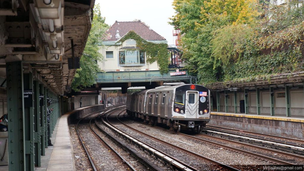 (289k, 1024x576)<br><b>Country:</b> United States<br><b>City:</b> New York<br><b>System:</b> New York City Transit<br><b>Line:</b> BMT Brighton Line<br><b>Location:</b> Beverley Road <br><b>Route:</b> Q<br><b>Car:</b> R-160A/R-160B Series (Number Unknown)  <br><b>Photo by:</b> Mr. Railfan<br><b>Date:</b> 10/23/2012<br><b>Viewed (this week/total):</b> 2 / 1073