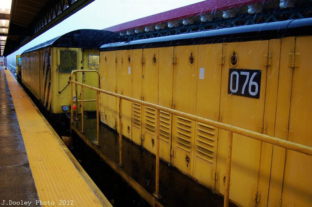 (334k, 1024x679)<br><b>Country:</b> United States<br><b>City:</b> New York<br><b>System:</b> New York City Transit<br><b>Line:</b> BMT West End Line<br><b>Location:</b> 62nd Street <br><b>Route:</b> Work Service<br><b>Car:</b> R-71 Rider Car (R-17/R-21/R-22 Rebuilds)  RD342 <br><b>Photo by:</b> John Dooley<br><b>Date:</b> 11/7/2012<br><b>Notes:</b> De-Icer train.<br><b>Viewed (this week/total):</b> 1 / 528