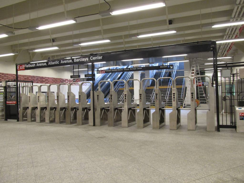 (120k, 1024x768)<br><b>Country:</b> United States<br><b>City:</b> New York<br><b>System:</b> New York City Transit<br><b>Line:</b> IRT Brooklyn Line<br><b>Location:</b> Atlantic Avenue <br><b>Photo by:</b> Robbie Rosenfeld<br><b>Date:</b> 9/19/2012<br><b>Notes:</b> New entrance.<br><b>Viewed (this week/total):</b> 0 / 825