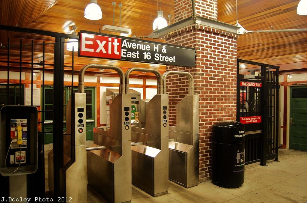 (357k, 1024x677)<br><b>Country:</b> United States<br><b>City:</b> New York<br><b>System:</b> New York City Transit<br><b>Line:</b> BMT Brighton Line<br><b>Location:</b> Avenue H <br><b>Photo by:</b> John Dooley<br><b>Date:</b> 11/12/2012<br><b>Notes:</b> New station house interior<br><b>Viewed (this week/total):</b> 2 / 1199